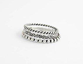 Prstene - sada strieborných prsteňov Utam - 9604761_