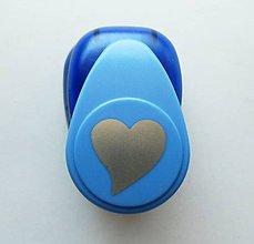 Pomôcky/Nástroje - Raznica - dierovačka na papier, 25 mm, srdce, láska, srdiečko - 9603618_