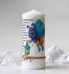 Svietidlá a sviečky - Dekoračná sviečka pre pani učiteľky v škôlke - Svetlušková trieda - 9605480_