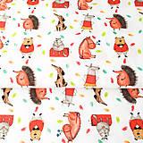 Textil - tehlové zvieratká, 100 % prezrážaná bavlna Španielsko, šírka 150 cm, cena za 0,5 m - 9604432_