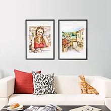 Obrazy - Akvarelový obraz na objednávku (S čiernym rámom 40x50) - 9604403_