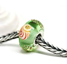 Náramky - Mušle pandorka - zelená ch-44 - 9604518_