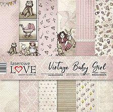 Papier - Sada papierov - Vintage Baby Girl - 9603870_