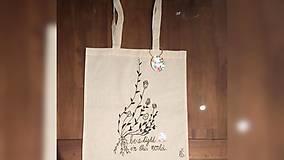 Iné tašky - ♥ Plátená, ručne maľovaná taška ♥ - 9602748_