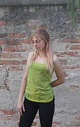 Tielka - Batikované žlté bavlnené tielko Mandaly - 9605222_