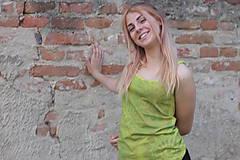 Tielka - Batikované žlté bavlnené tielko Mandaly - 9605227_