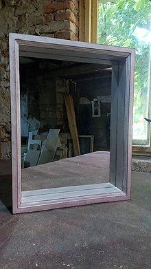 Zrkadlá - Zrkadlo v drevenom ráme - 9603829_
