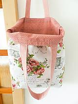 Nákupné tašky - Vintage ruže a známky  - 9602753_