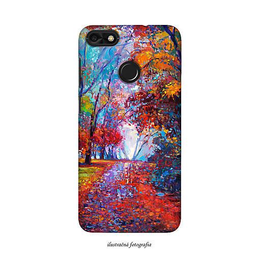 Kryt s motívom ručne maľovaného lesa pre Apple, Huawei, Samsung
