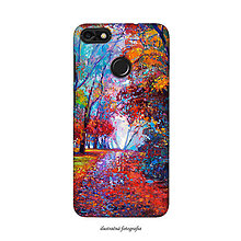 Na mobil - Kryt s motívom ručne maľovaného lesa pre Apple, Huawei, Samsung - 9602888_