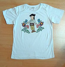 Detské oblečenie - Detské maľované tričko Janošik - 9602949_