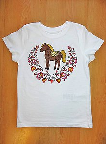 Detské oblečenie - Detské maľované tričko Konik - 9602961_