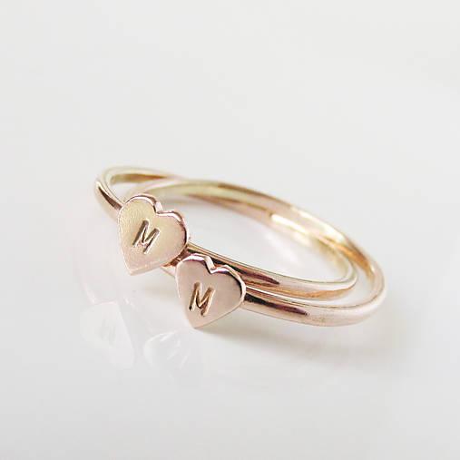Prstene - Spolu_Sme (m)iní (Zlatý prstienok so srdiečkom 1ks) - 9603155_