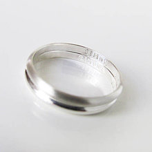 Prstene - MiniMe / Basic (Ražba 1mm / jeden znak) - 9602960_