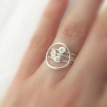 Prstene - Spolu_Sme (m)iní (Tri prstienky s krúžkovým spájajúcim / zvýhodnená cena) - 9603029_