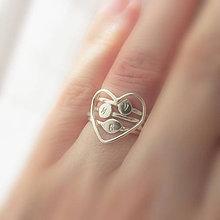 Prstene - Spolu_Sme (m)iní (Tri prstienky so srdiečkovým spájajúcim / zvýhodnená cena) - 9603030_