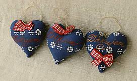 Dekorácie - Srdiečko s levanduľou a textom (modré Ďakujem) - 9602671_