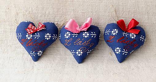 Srdiečko s levanduľou a textom (modré Z lásky)