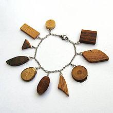 Náramky - Retiazkový náramok s drievkami - 9602693_
