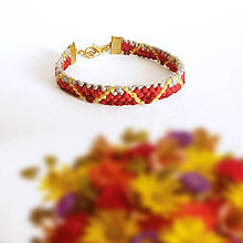 Náramky - Lúče - pletený náramok - 9602674_