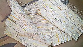 Úžitkový textil - Jemný žltý melír 160x73cm - 9603687_