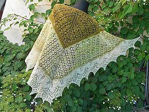 Šatky - Šátek z ručně předené a barvené příze Romney - 9605900_