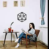 Dekorácie - Magnetická geometrická nástenka / dekorácia ICOSAHEDRON - 9606727_