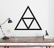 Dekorácie - Magnetická geometrická nástenka / dekorácia TRIANGLE - 9606758_