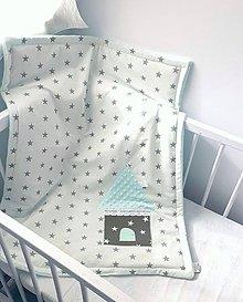 Textil - Deka Čarovná hviezdička 70x90/trojvrstvová/azúrová - 9608816_