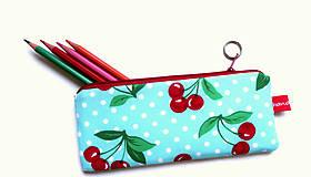 Taštičky - Retro Cherry  style ... peračník No.2 - 9607897_