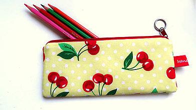 Taštičky - Retro Cherry  style ... peračník No.1 - 9607836_