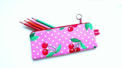 Taštičky - Retro Cherry  style ... peračník No.3 - 9607917_
