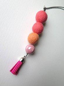 Náhrdelníky - Ružové očko - 9608609_