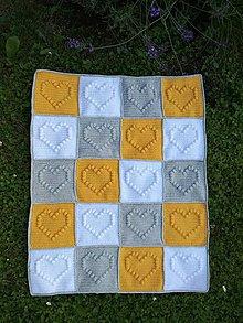 Textil - Detská háčkovaná deka žltá - 9607585_