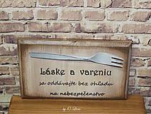 Tabuľky - Vintage tabuľka - Láska a varenie - 9607241_