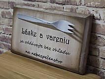 Tabuľky - Vintage tabuľka - Láska a varenie - 9607244_
