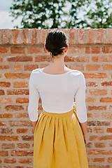 Sukne - Lněná zavinovací sukně (hořčicová)  - 9606234_