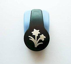 Pomôcky/Nástroje - Dierovačka na hrubší papier, moosgummi - 25 mm - kvet, kvietky - 9606324_