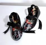 Obuv - čierne baleriny - svadobné - 9608052_