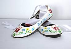 Obuv - svadobné balerínky - ľudový vzor - 9608215_