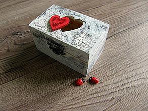 Krabičky - Šperkovnica so srdiečkom - 9606968_