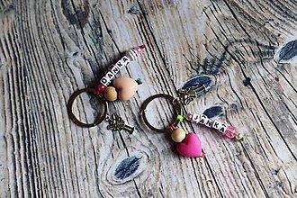 Kľúčenky - nestraťkíúč ANJEL s menom (Ružová) - 9607468_