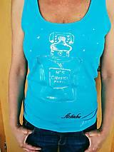 Tričká - AKCIA!!! Tielko maľované - parfém Chanel No.5 - 9606788_