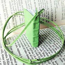 Náhrdelníky - Knihový náhrdelník / veľký / zelený - 9606266_