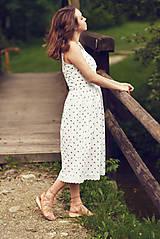 Šaty - Bavlnené šaty s ľudovým vzorom - 9606225_