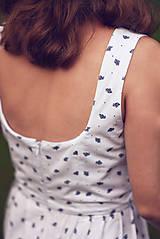 Šaty - Bavlnené šaty s ľudovým vzorom - 9606348_