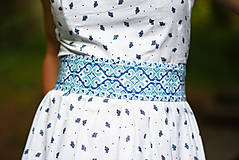 - Opasok Folkový krížik modrý - 9606536_