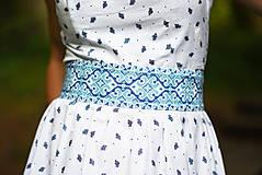 Opasky - Opasok Folkový krížik modrý - 9606536_