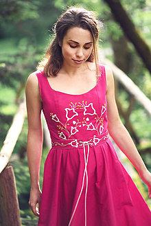 Šaty - Fuchsiové vyšívané šaty - 9605904_