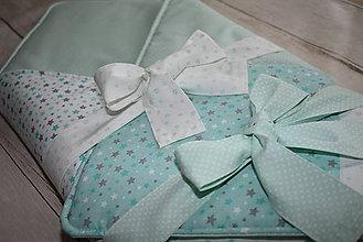 Textil - Patchwork zavinovačka *mint* - 9606398_